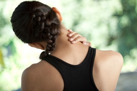 Neck pain persists for a young woman after an injury