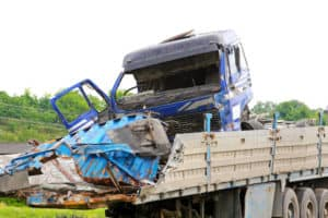 Fatal traffic accident with truck and trailer