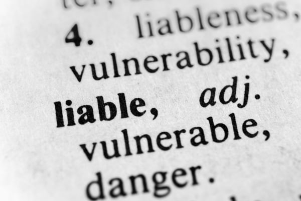 The Dictionary Definition of Liable